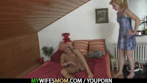 She rides daughter s BF cock and gets busted