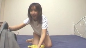 Haruka Hoshikawa plays with cunt before licking balls and cock