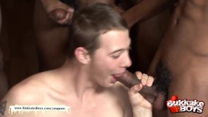 Cute twink gets his asshole fucked bareback style!