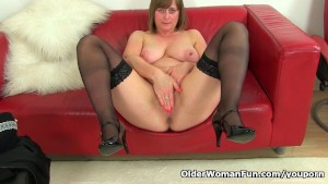 British milf April takes a mas