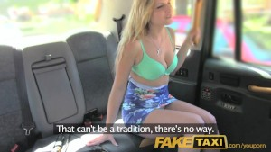 FakeTaxi English cock in the ass for hot blonde Canadian passenger