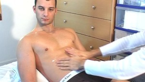 Cock massage to hetero guy !