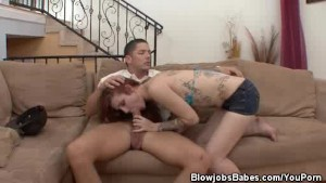 Sasha Pain Gets Into A Groovey Blowjob