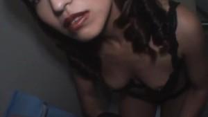 Kyoko Izumi gives good blowjob at toilet and gets cum in mouth