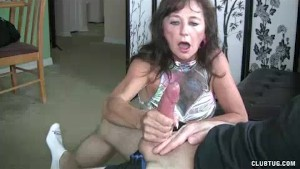 His Naughty Step Mom Takes His Cock Matters To Hand