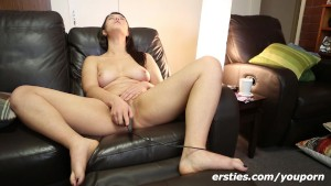 Horny Tara masturbates with Toy filmed by Ersties !