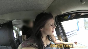 FakeTaxi American lady gets deep arse fucked