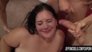 BBW Becki Butterfly with 5 guy