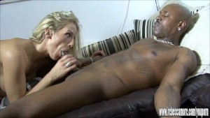 Horny blonde Milf treats bbc to sexy lingerie and fuck her tight wet pussy