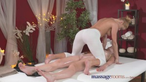 Massage Rooms Redhead lesbian gives blonde model an intense orgasm
