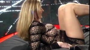Blonde stripper works for some extra cash