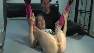 Teen girl fist fucked in her g