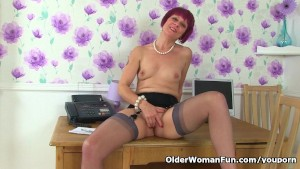 British milf Penny loves being your secretary