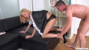 Teenage Maid Rides Dick
