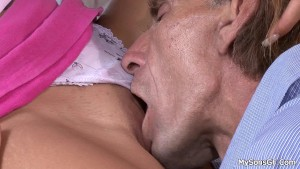 Young gf cheating with her BF s older man