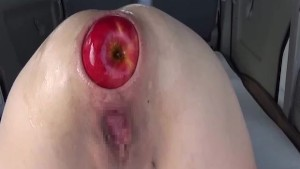 Extreme anal fisting and XXL apple insertions