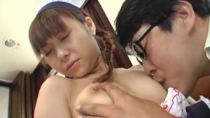 Natsumi Asian maid in cosplay