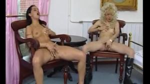 Two babes masturbating together - Julia Reaves