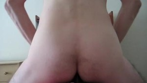 Anal riding my vibrator. Riding my new vibrator on a bar stool. ;)