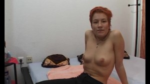 Redhead rubbing one out - Julia Reaves