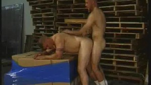 Muscled Warehouse Men Ass Fucking