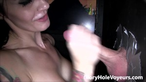 Samantha Jaymes Gloryhole Blowjob