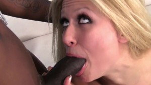 Horny Blonde Is Desperate For Big Black Cock!