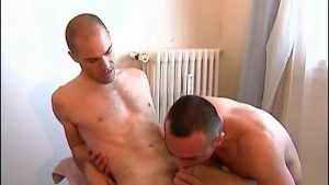A nice innocent bi-guy serviced his big cock by a guy in spite of him!