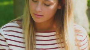 Impressive upskirt voyeur video of a hot girl in the park