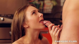 PARADISE FILMS Anal Teen Couple in the kitchen