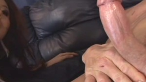 Asian bimbo with medium size boobs getting fucked hard