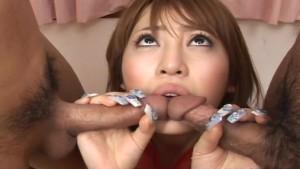 Big boobs Asian babe has a fuck with the randy boys