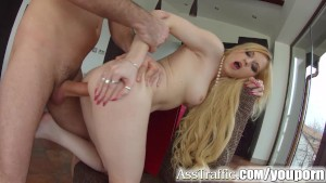 asstraffic blonde loves anal sex in this hardcore scene