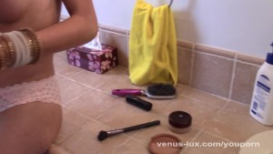 Spy On Venus Lux Jerking Off In Bathroom