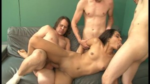 Ebony Girl Gets Fucked By A Bunch Of Guys - Ultima
