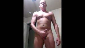 Standing Male Masturbation with Big Cock
