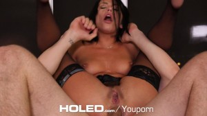 HOLED - Adriana Chechik tied up for brutal anal fuck