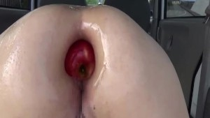 Anal fisting and stuffing her huge gaping ass
