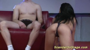 scandal lapdance on public sta