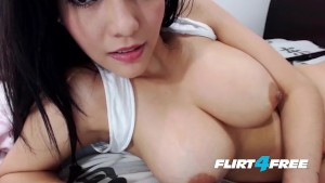 Stunning Asian Beauty Micha Latina Caresses Her Fine Petite Body