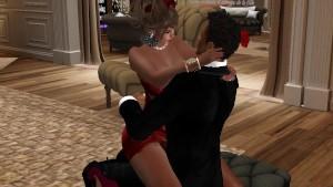 Une tres jolie femme en mini robe moulante rouge