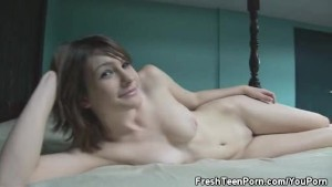Small Tit Teen Teases Lustfully