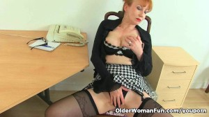 UK milf Red will assist you at