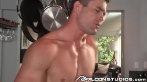 FalconStudios Sexy Jock Cums with Cock in Ass!