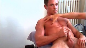 A nice innocent delivery guy serviced his big cock by a guy!