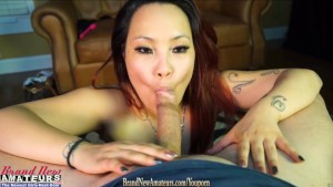Casting amateur fucked then swallows