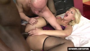Blonde wife fucked by a black