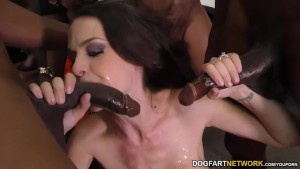 McKenzie Lee Gets Gangbanged -