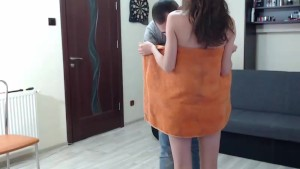 Fat guy fucking his skinny girlfriend LIVE on cam