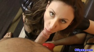 Eurobabe fucks geriatric after licking clit
